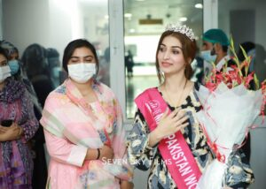 Areej Chaudhary, Miss Pakistan World 2020 was invited to the Qaid-e-Azam International Hospital, Islamabad