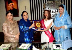 Faisalabad Women Chamber of Commerce & Industry invited current Miss Pakistan World 2020, Areej Chaudhary as a guest speaker in Faisalabad, Pakistan